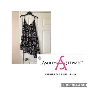 Ashley Stewart Tops - NWT Ashley Stewart Paisley Asymmetrical Top